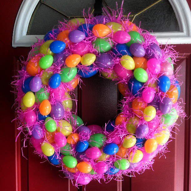 Looks like Easter had a party on this wreath!